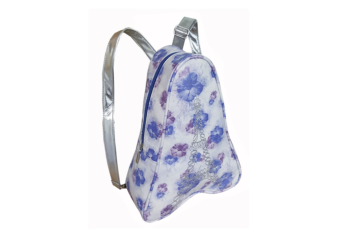 Small Backpack for women in tower shape side