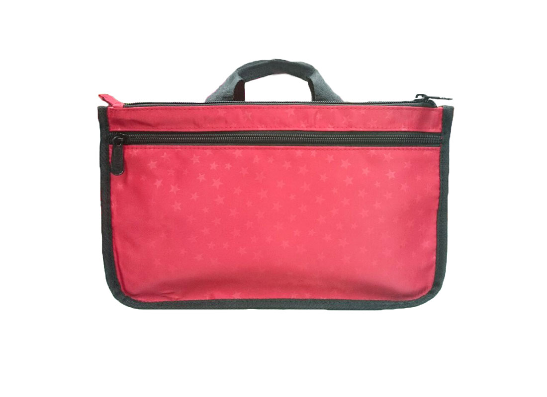 small causal bag in red back