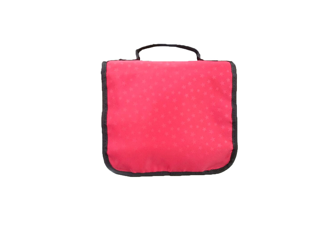 Travel Cosmetic bag in red back