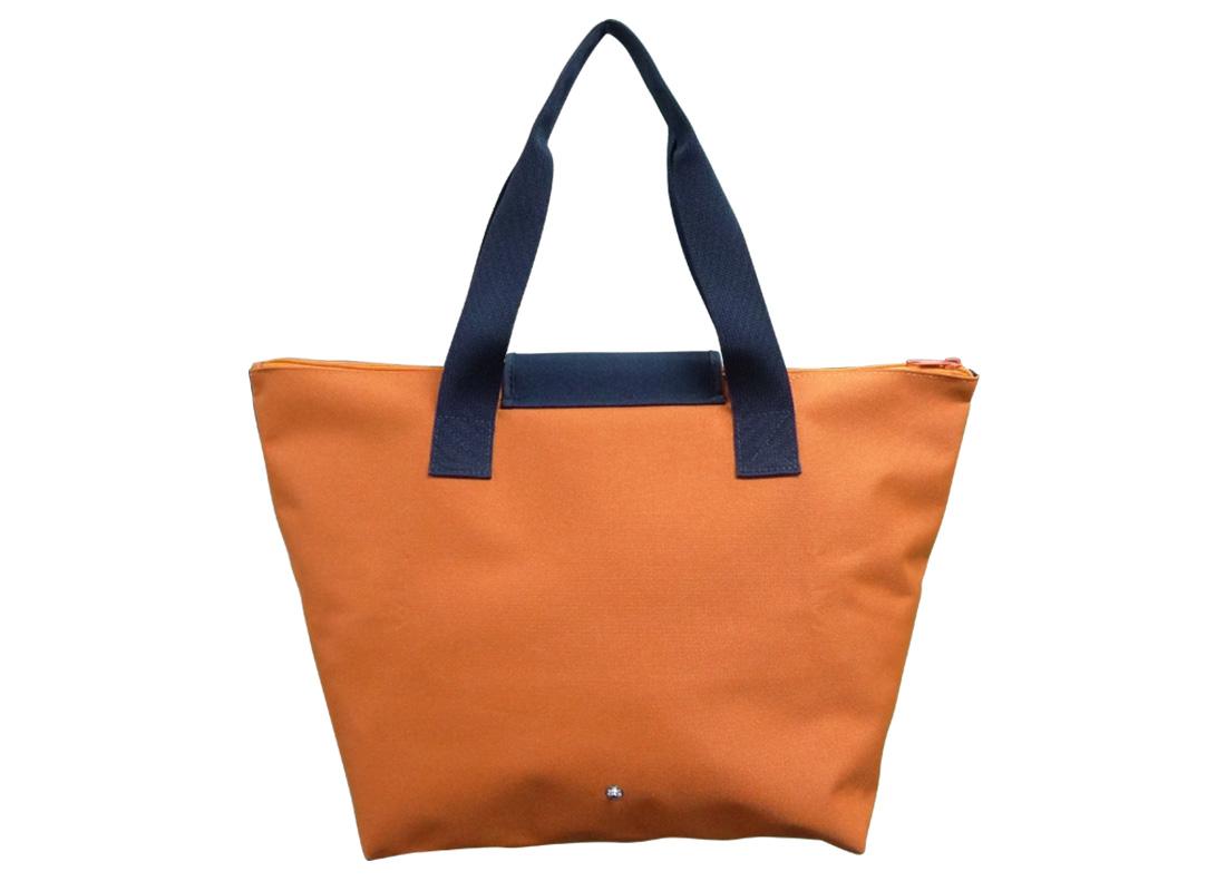 Foldable Tote in Orange Back