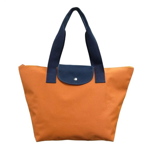 Foldable Tote in Orange