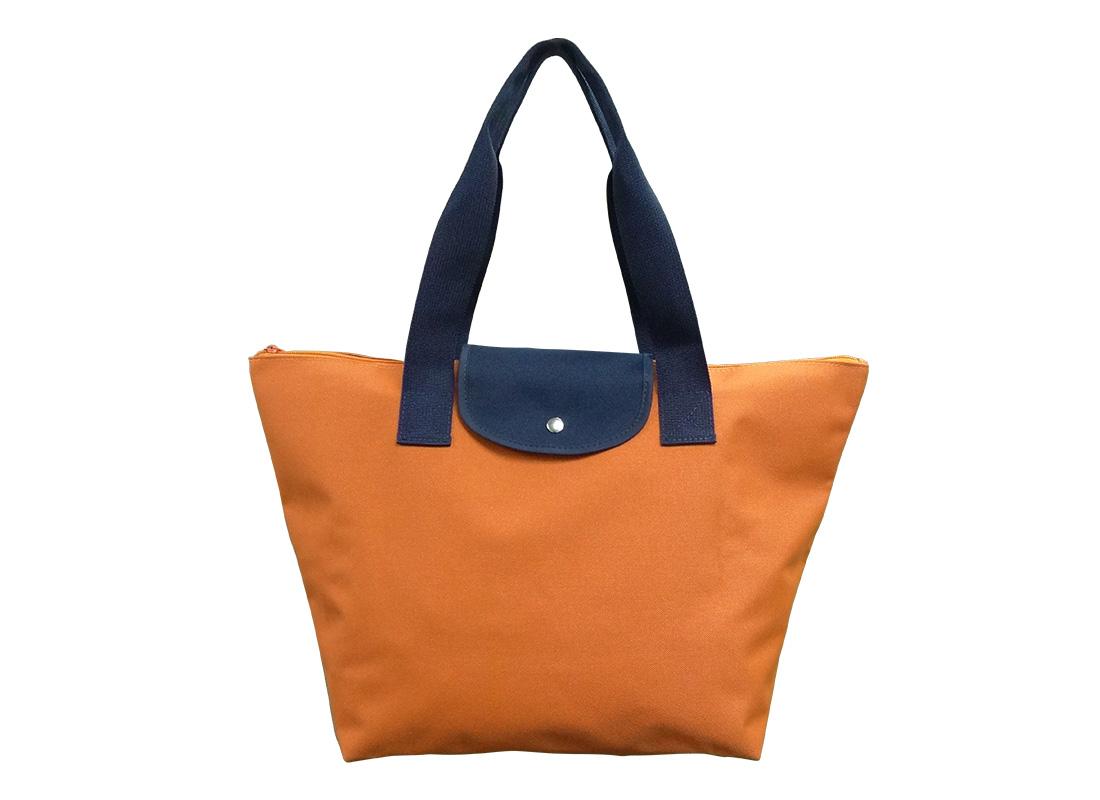 Foldable Tote in Orange