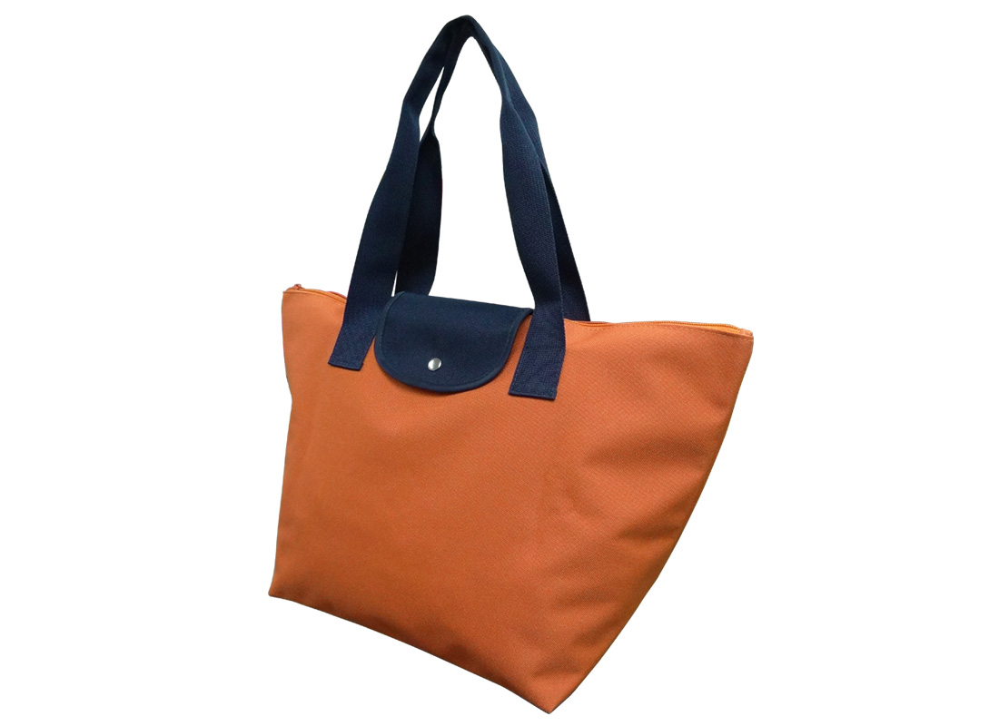 Foldable Tote in Orange R side