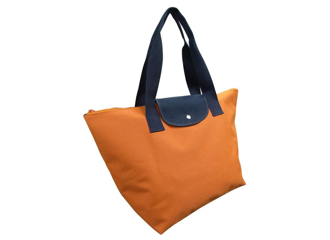 Foldable Tote in Orange L side