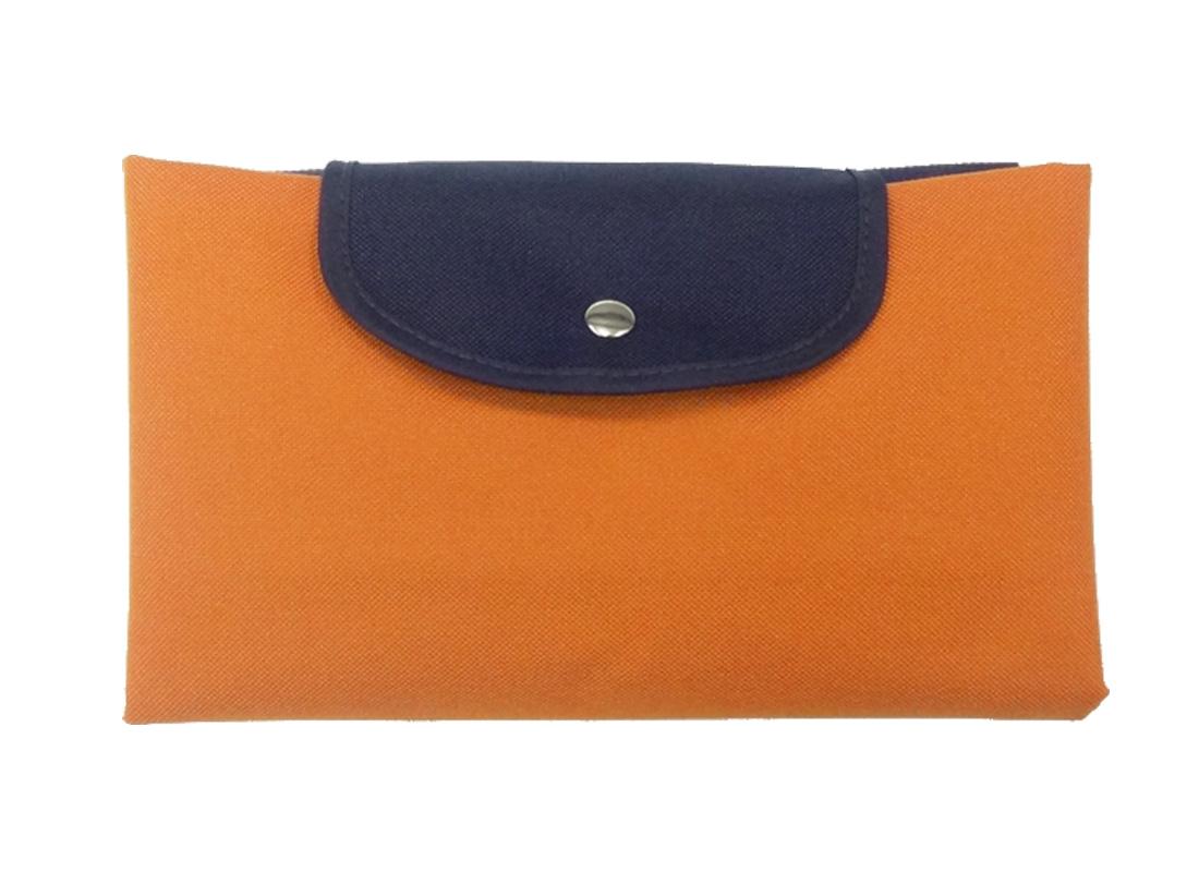 Folded Foldable Tote in Orange