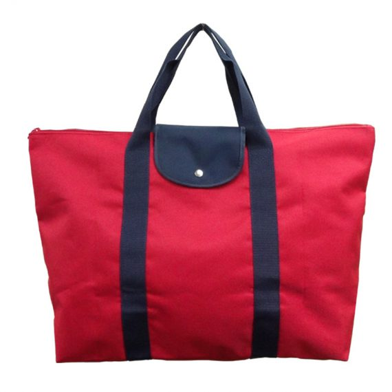 Foldable Tote Bag in Red