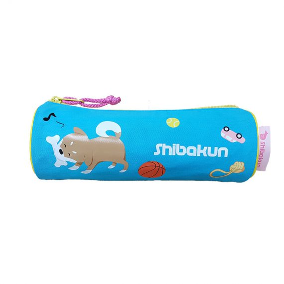 Round Shape pencil case with Shiba print