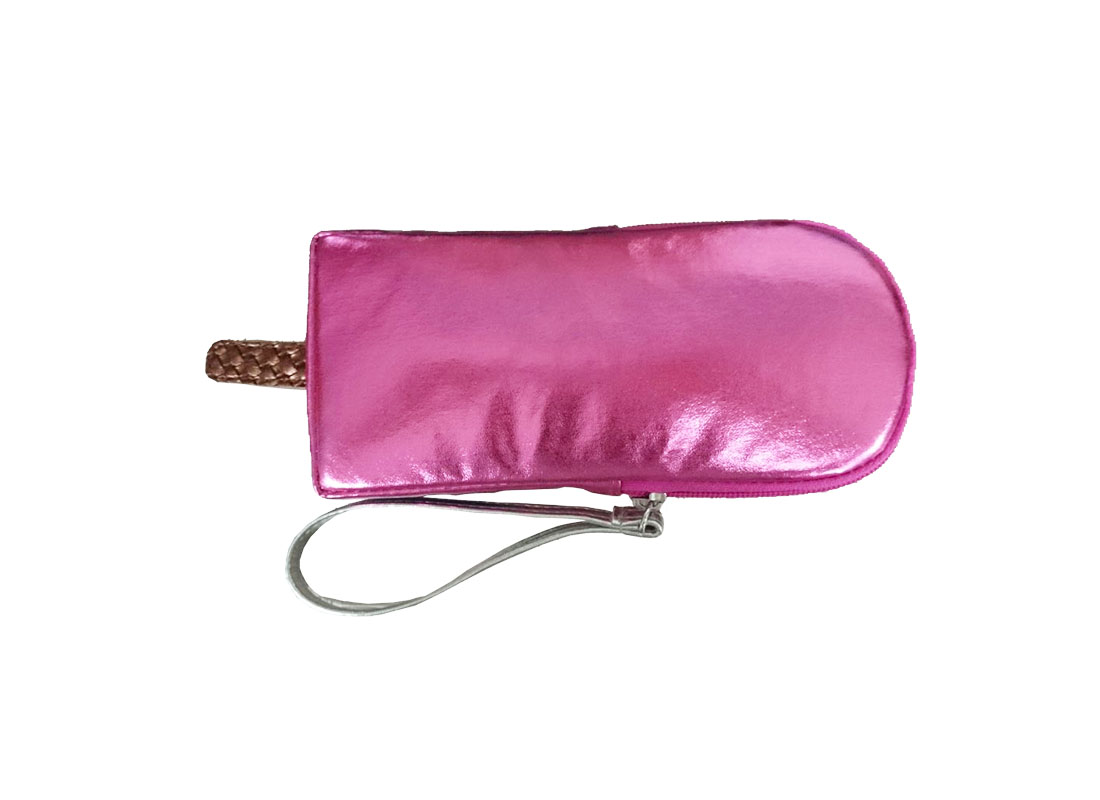 small pouch in popsicle shape back