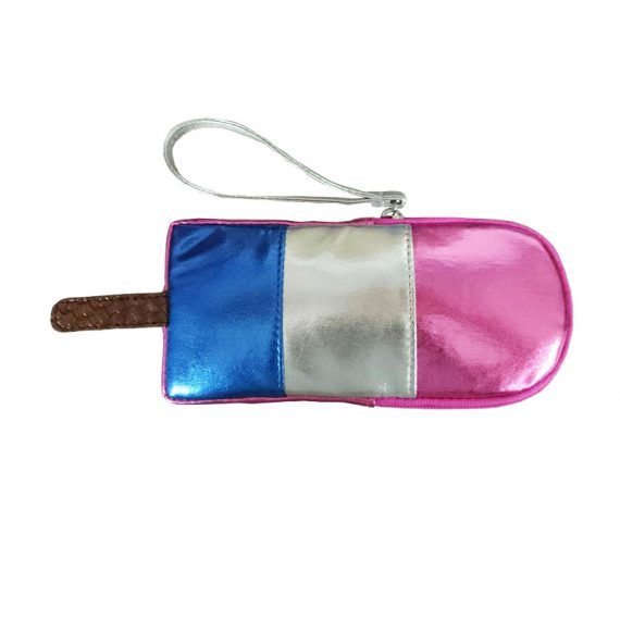 Small pouch in popsicle shape
