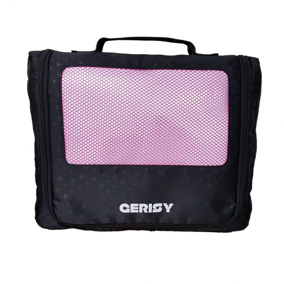 Large travel kit bag with mesh front