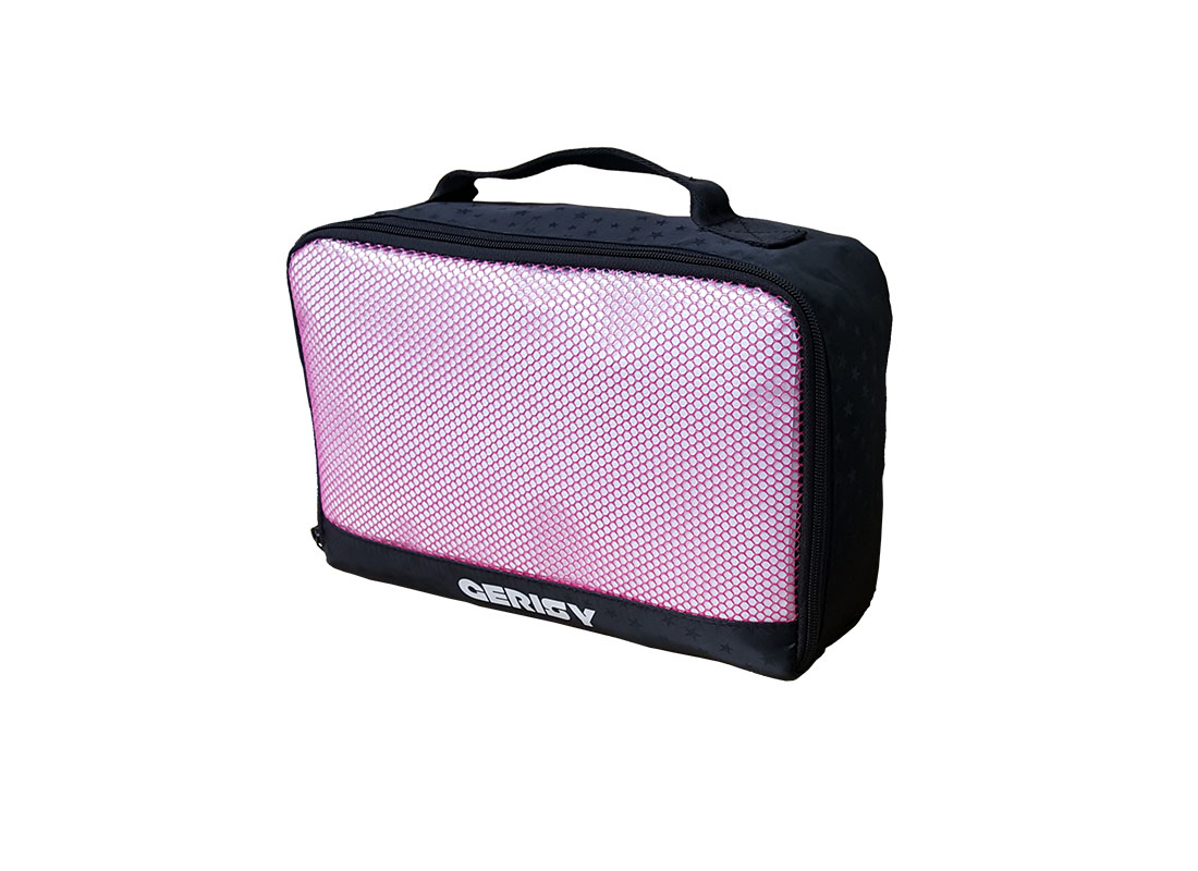 Small travel kit bag with mesh front R side