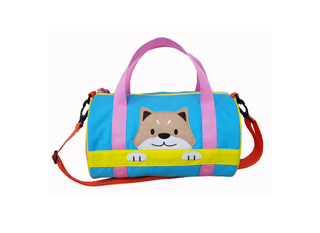 Children Duffel Bag with shiba patch