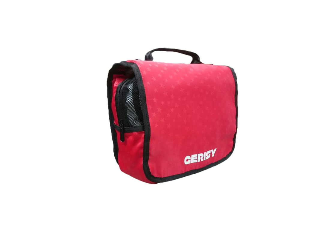 Travel Cosmetic bag in red L side