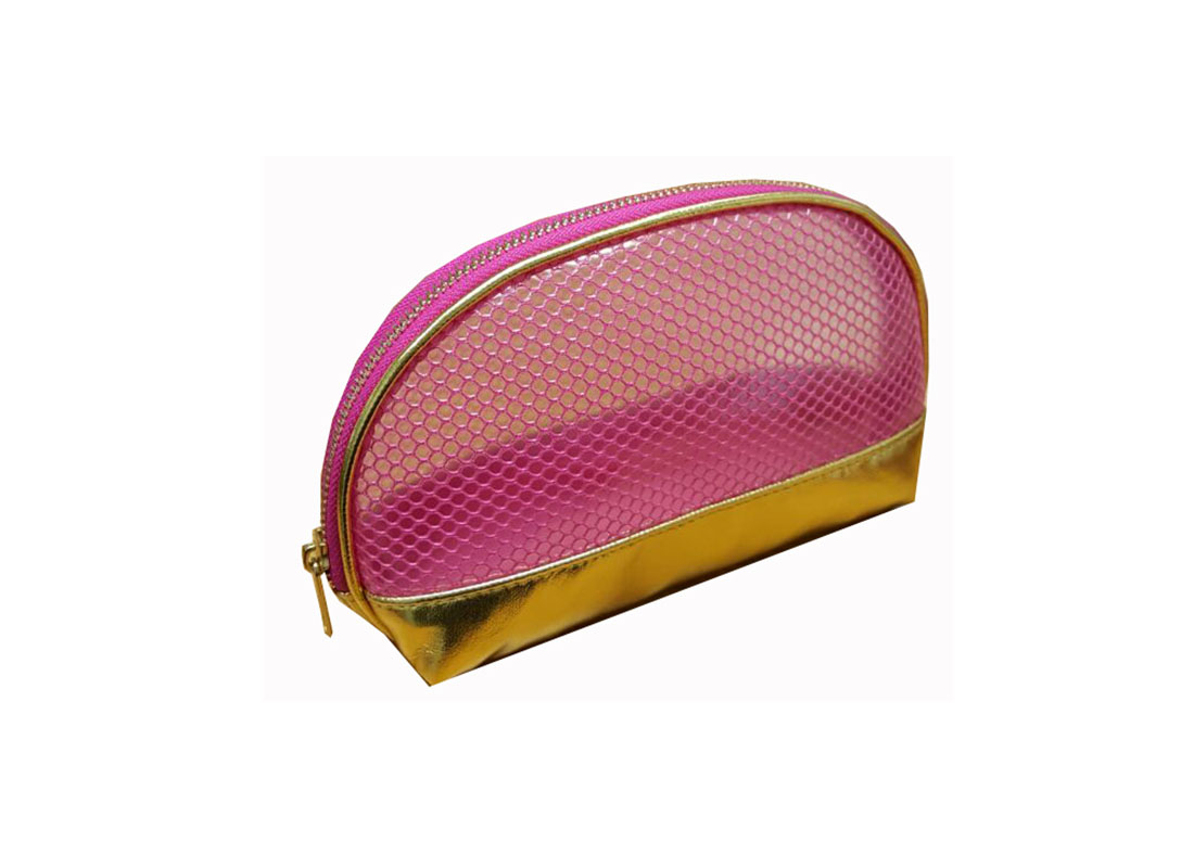 Shell shape makeup pouch side