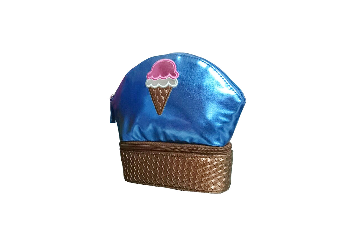 Two compartment pouch with ice-cream patch R side