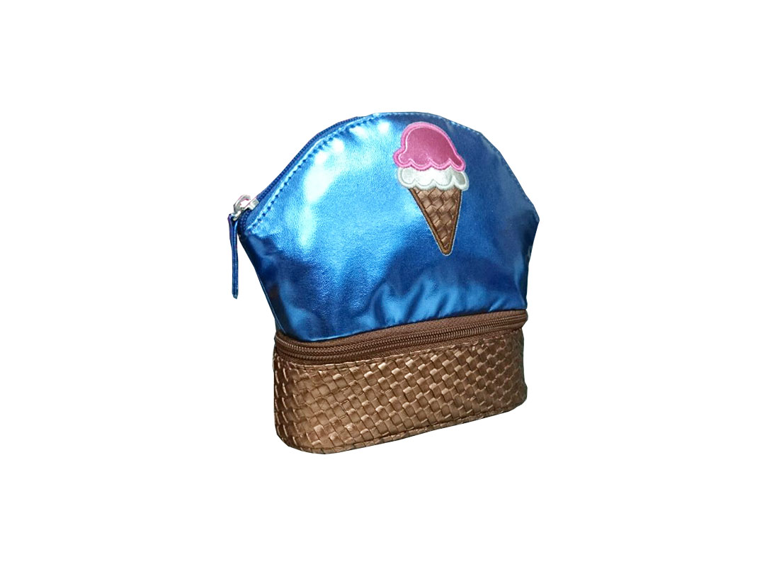 Two compartment pouch with ice-cream patch L side