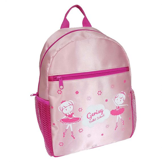 Cute backpack for girl with little ballet dancer