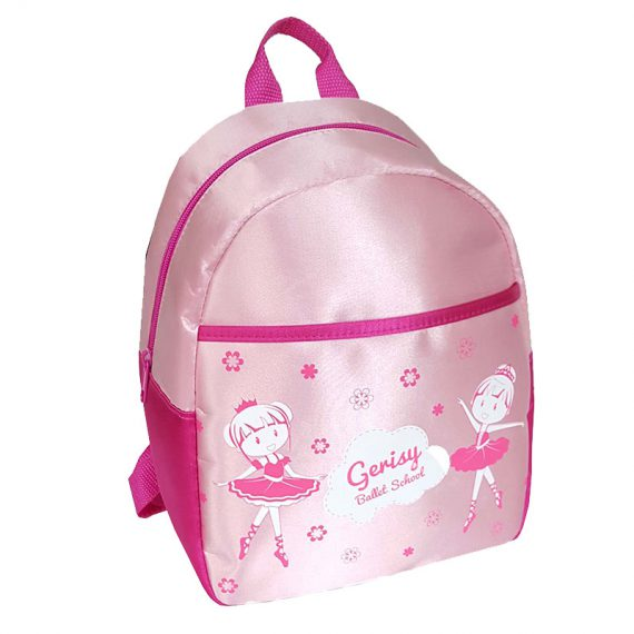 Girl Backpack with little ballet dancer print