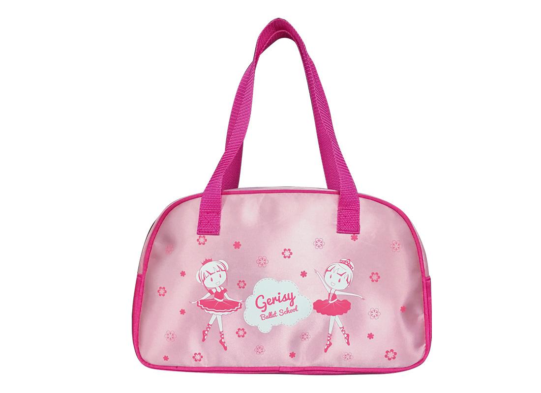 Girl Boston Bag with little ballet dancer print