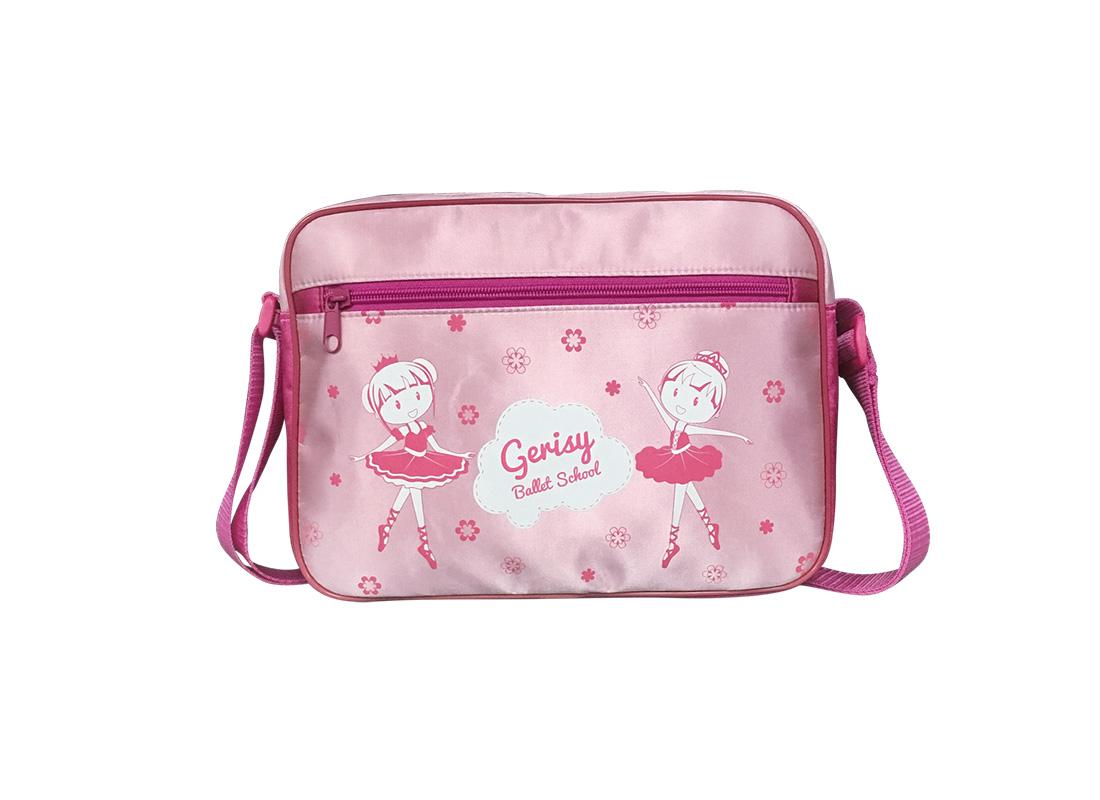 Girl Shoulder Bag with little ballet dancer print at the front