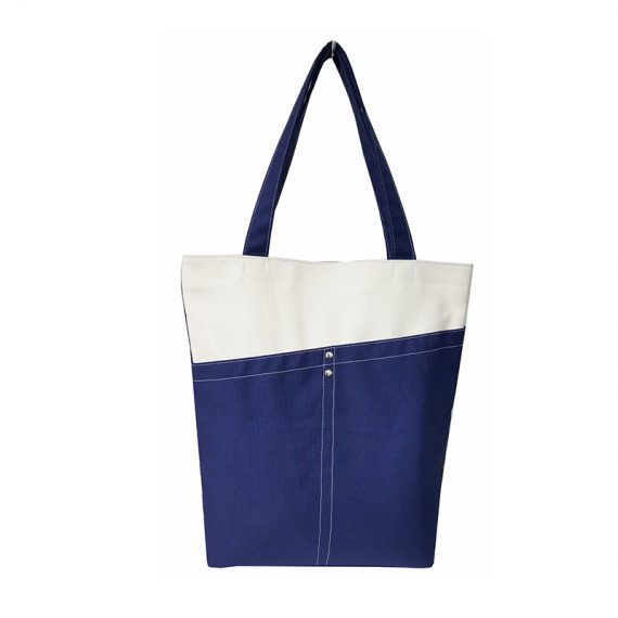 Tote Bag in dark blue & white