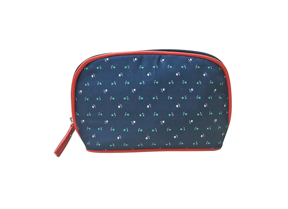 Shell Shape Floral Cosmetic Bag