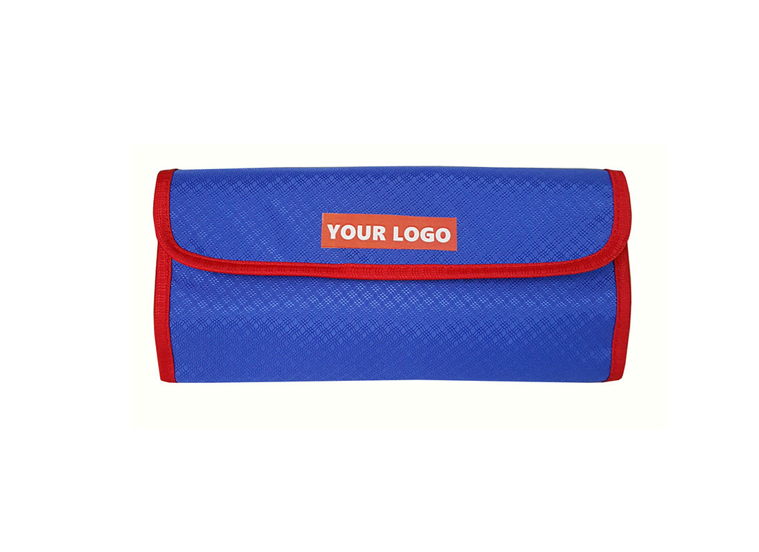 Accessories pouch in blue