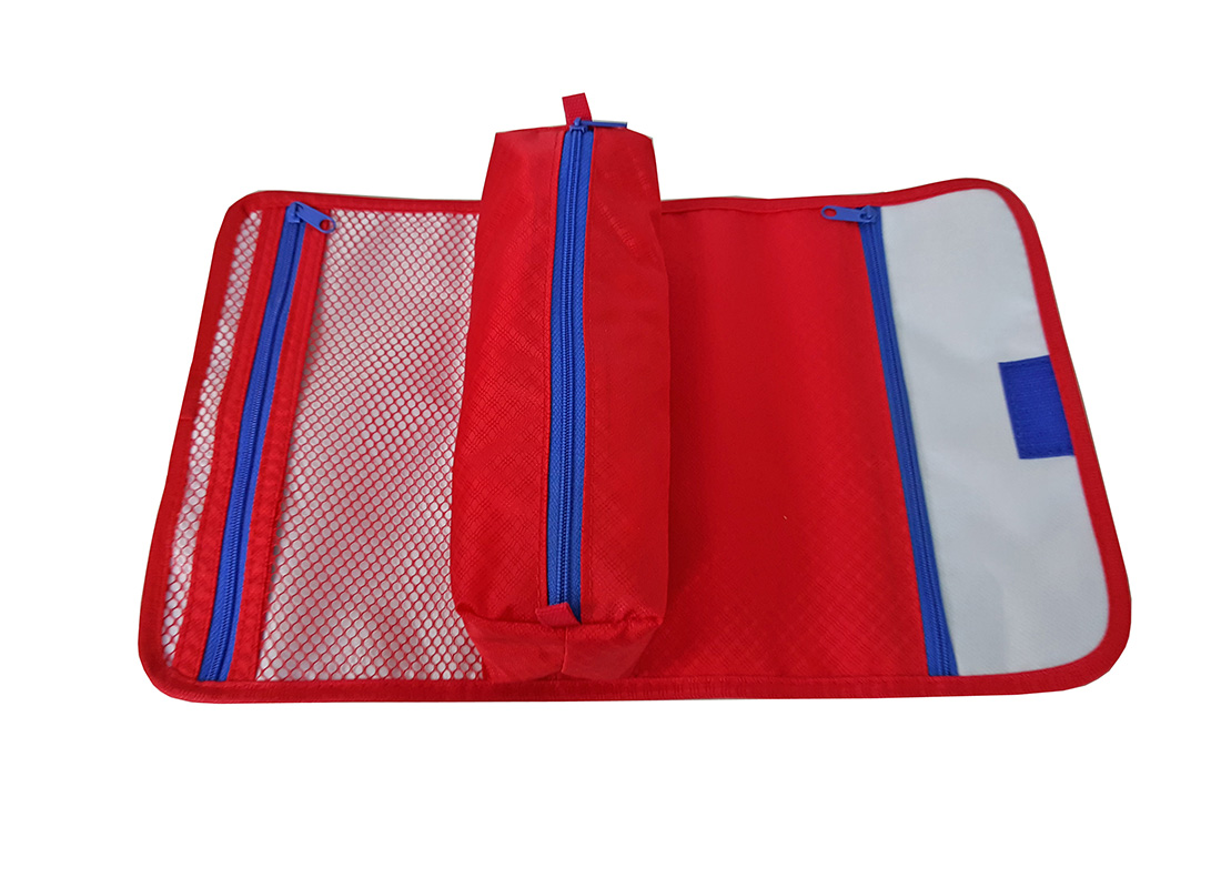 Open view of accessories pouch