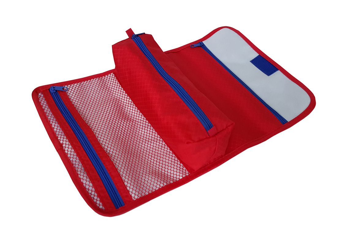 side open view of accessories pouch