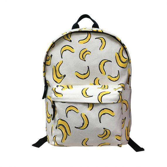 Canvas Backpack with banana print