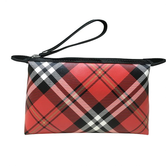 Plaid Cosmetic Pouch