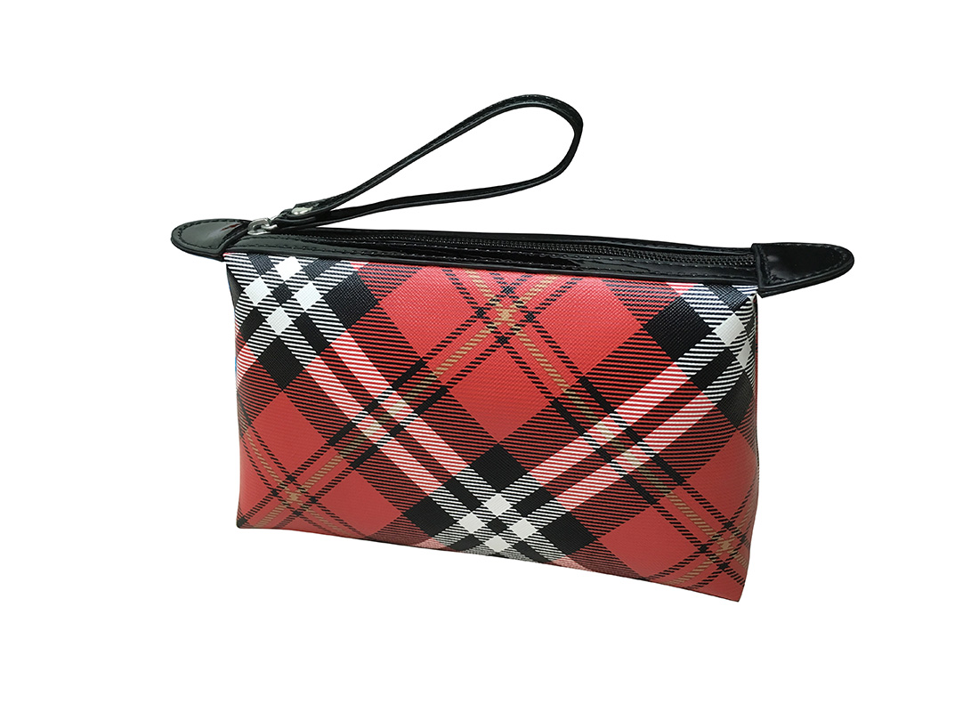 Plaid Cosmetic Pouch R side