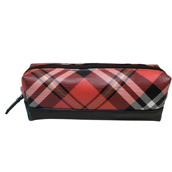 cosmetic bag pencil case in plaid
