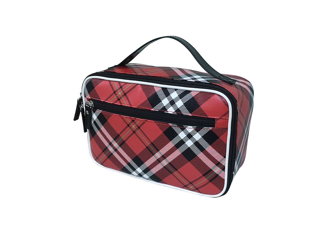 Square Shape Plaid Cosmetic Bag R side