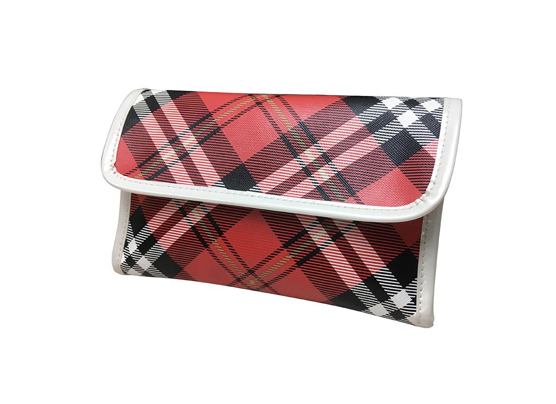 Plaid Cosmetic Bag R side