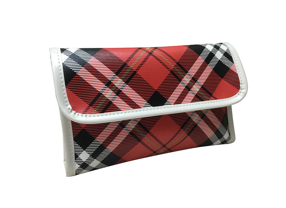 Plaid Cosmetic Bag L Side