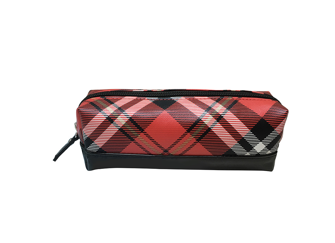 cosmetic bag pencil case in plaid