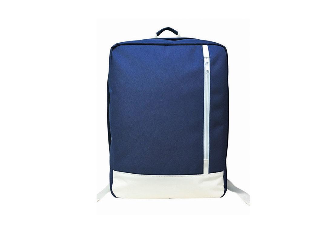 Rectangle shape backpack in blue & white