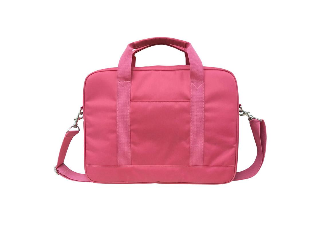 Laptop Bag for women in pink Nylon