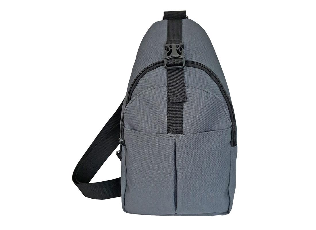 Men Sling bag in grey with front pocket
