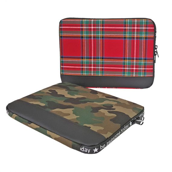 Two laptop Sleeve Plaid & Camouflage