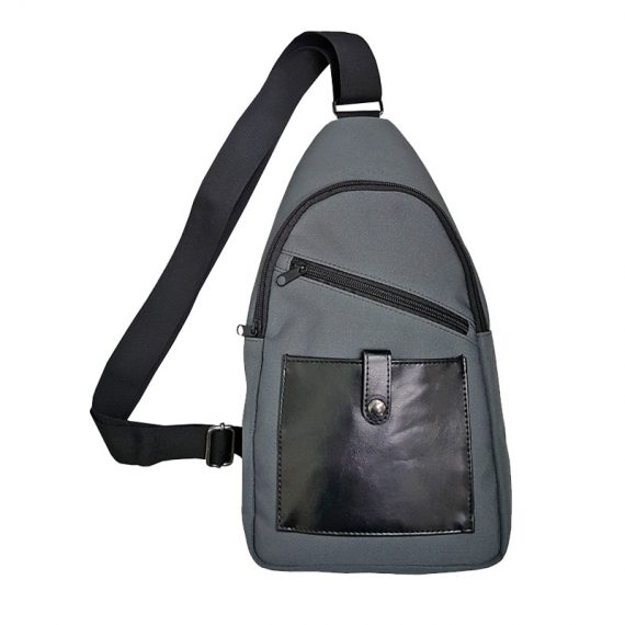 Men sling bag with two front pockets