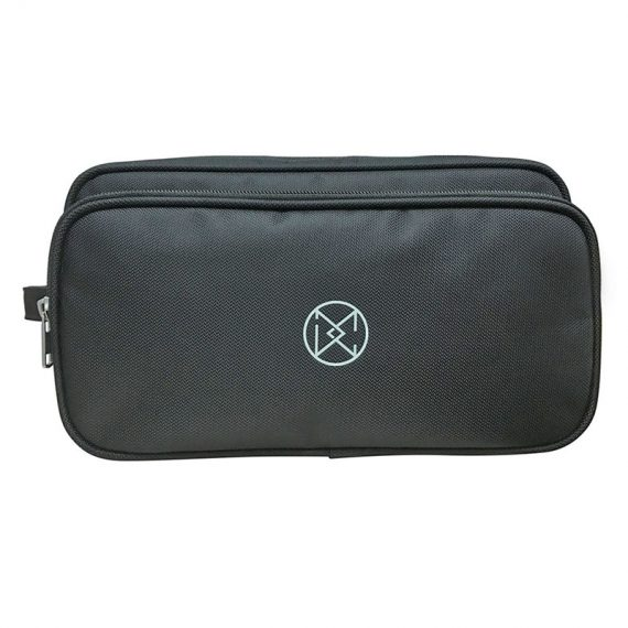 Large two compartment Men Toiletry in black