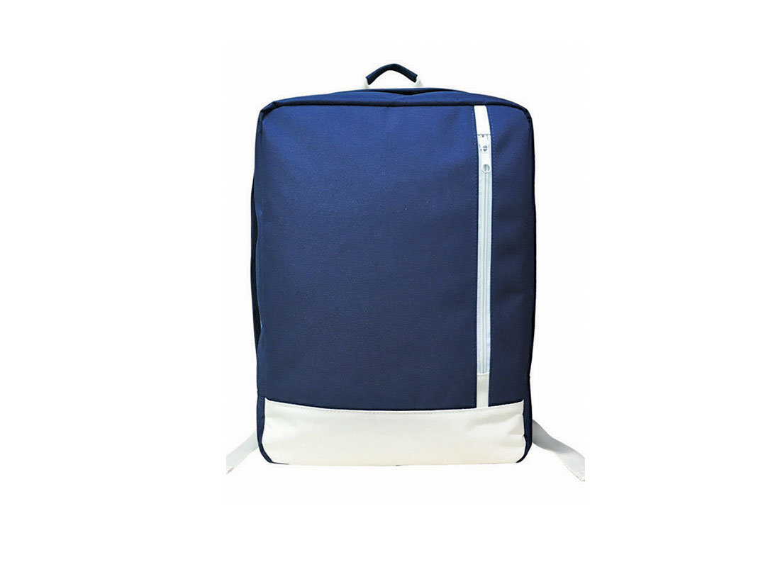 Rectangle shape backpack in blue & white