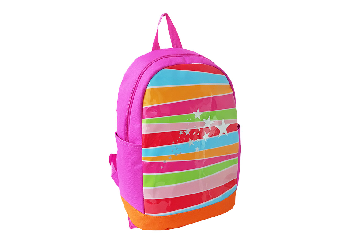 Girl Backpack with Front rainbow print L side