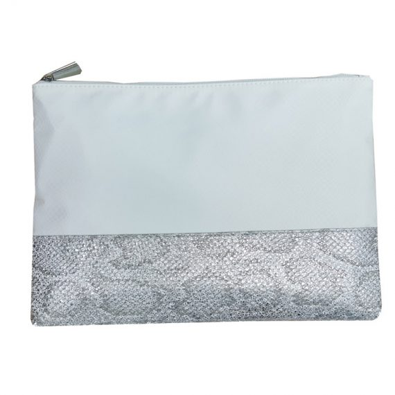 Nylon Clutch with Snakeskin PU bottom