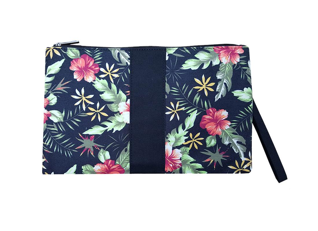 Flower print clutch back