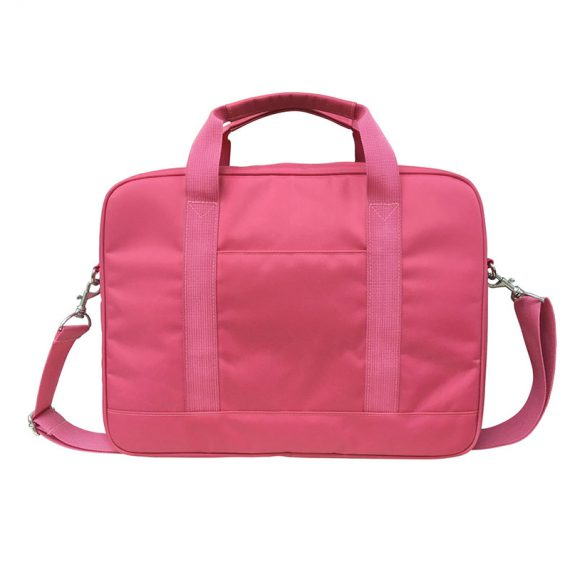 Laptop Bag for women in pink Nylon