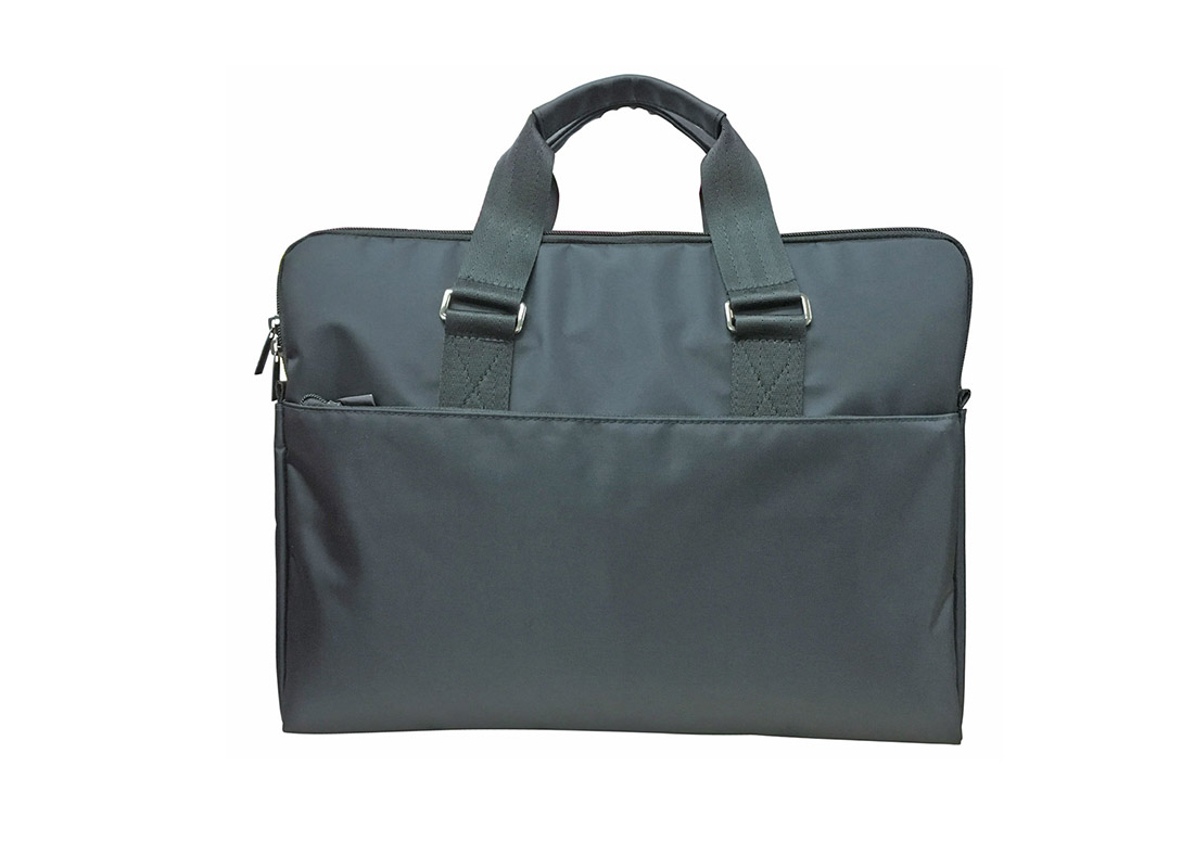 two compartment laptop bag in black
