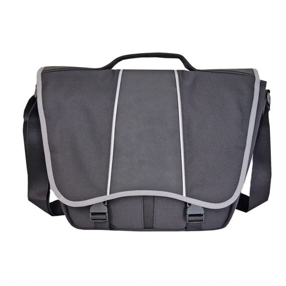 Messenger bag for men in black